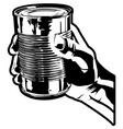 holding a tin can vector image vector image