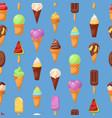 ice cream cone seamless pattern vector image