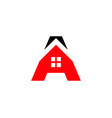 initial letter a real estate logo vector image vector image
