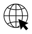 internet icon go to web icon symbol vector image