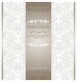 Light beige ornamental invitation card vector image vector image