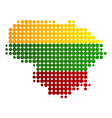 Map and flag of Lithuania vector image vector image