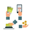 Money hands vector image