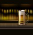 mug ogf beer vector image vector image
