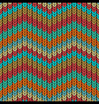 multicolor zigzag knitted seamless pattern vector image