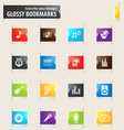 music bookmark icons vector image