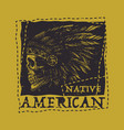 Native american vintage typography vector image