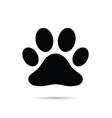paw black icon vector image