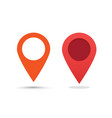 pin pointer marker red color for map location vector image