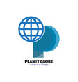 planet globe design vector image