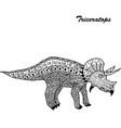 pterodactyl - prehistoric monster antistress vector image vector image
