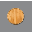 Realistic wooden cutting board vector image