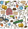 seamless background of farming vector image vector image