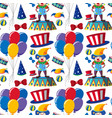 seamless background with clowns and balloons vector image