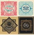 set 4 vintage labels vector image vector image