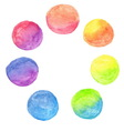 set of rainbow watercolor circles vector image vector image