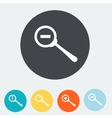 Simple web icon in Zoom out icon Flat vector image