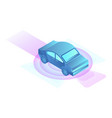 smart electric car icon isometric style vector image