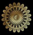 textured vintage gold mandala pattern ornamental vector image vector image