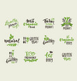 variety organic food stickers vector image vector image