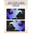 vector abstract business card vector image