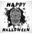 vintage Halloween skull vector image vector image