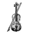 violin with bow vector image vector image