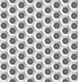 White hexagon pattern background vector image