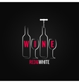 wine glass bottle ornate background vector image vector image