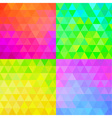 Set of Colorful Geometric Patterns vector image