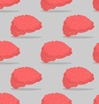 Brain seamless pattern Central organ of nervous vector image