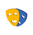 comedy and tragedy theater masks symbol flat vector image