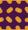 seamless halloween pattern with pumkin endless vector image