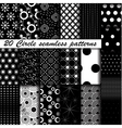 20 Monochrome circle seamless patterns vector image vector image