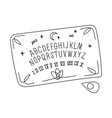 a painted ouija board isolated on a white vector image vector image