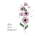 abstract bouquet pink flowers vector image vector image