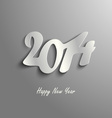 Abstract New Year card on a gray background vector image vector image