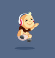 baplaying air guitar listening to rock music vector image