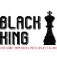 black king chess figure on white vector image
