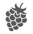 blackberry glyph icon fruit and vitamin vector image vector image