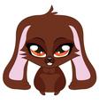 Brown bunny vector image vector image