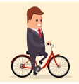 businessman on a bike Happy manager vector image