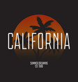 california t-shirt typography modern print for vector image vector image