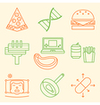 Causes of Obesity icon set vector image vector image