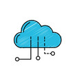 cloud data with circuits to digital connection vector image
