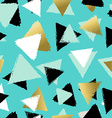 Colorful seamless pattern with gold triangles vector image