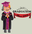 congrats graduation class 2019 colorful fat poster vector image vector image