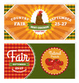 country fair vintage invitation cards vector image vector image