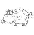 Cow cartoon vector image vector image