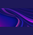 curvy gradient streak background in purple color vector image